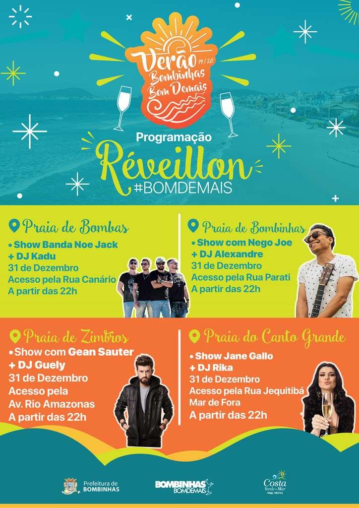 BOMBINHAS - Réveillon de Bombinhas terá atrações musicais em quatro praias
