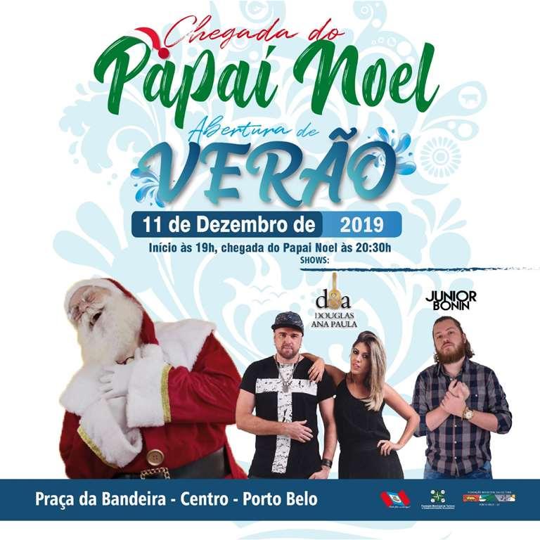 PORTO BELO - Papai Noel chega em Porto Belo nesta quarta-feira