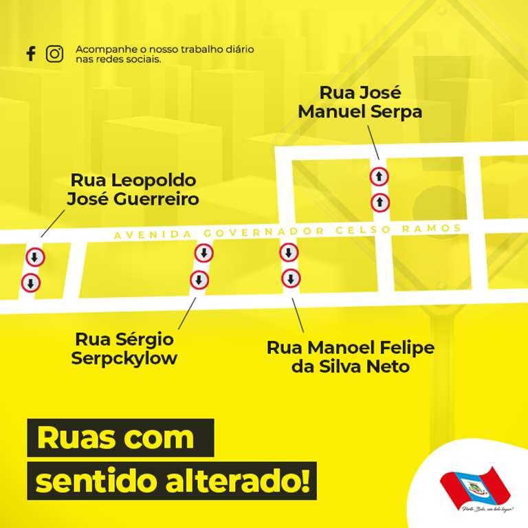 PORTO BELO - Porto Belo terá alterações no trânsito do Centro para a temporada de verão