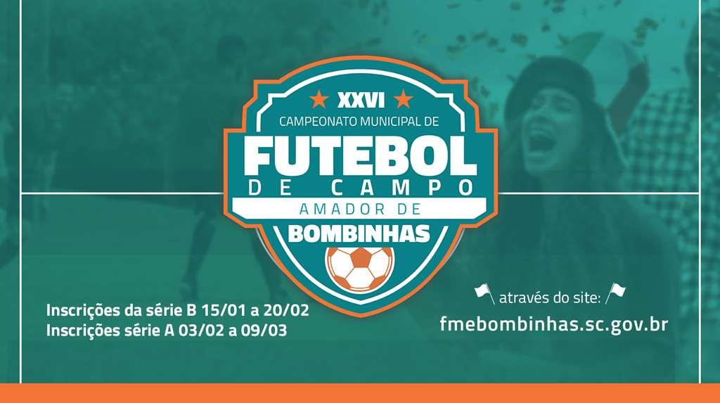 BOMBINHAS - Campeonato Municipal de Futebol de Campo está com inscrições abertas