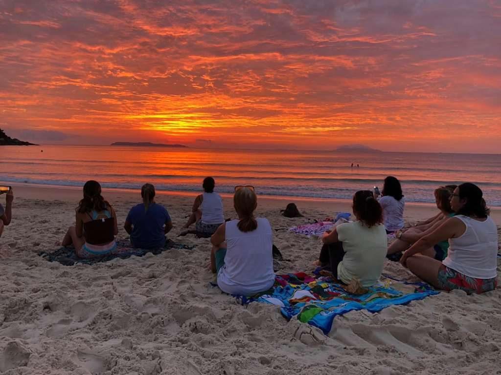 BOMBINHAS – Equipe de Saúde do Centro promove Manhã de Meditação