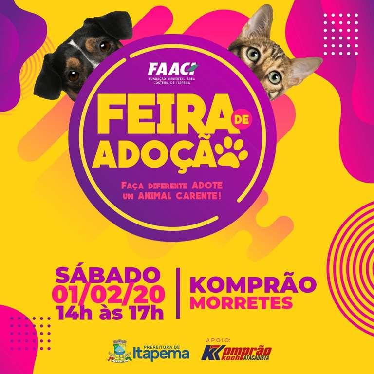 FAACI realiza feira mensal de adoção neste sábado (01/02)