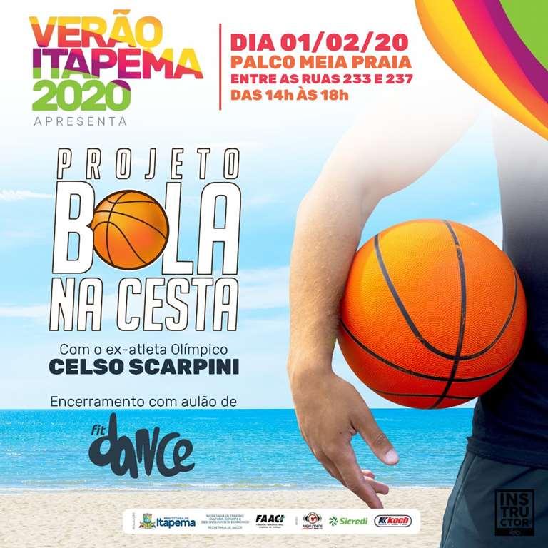Sábado (01/02) tem Bola na Cesta com o ex-atleta olímpico na Meia Praia