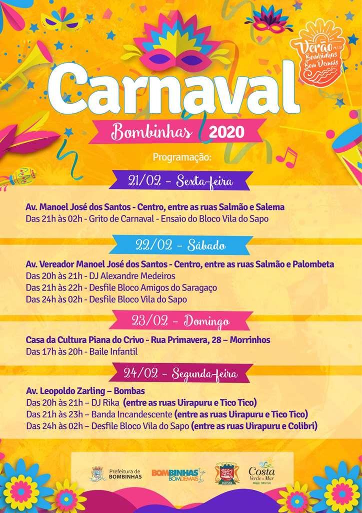 BOMBINHAS - Carnaval de Bombinhas promete muita diversão