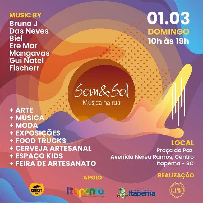 Domingo (01/03) tem Projeto Som&Sol na Praça da Paz