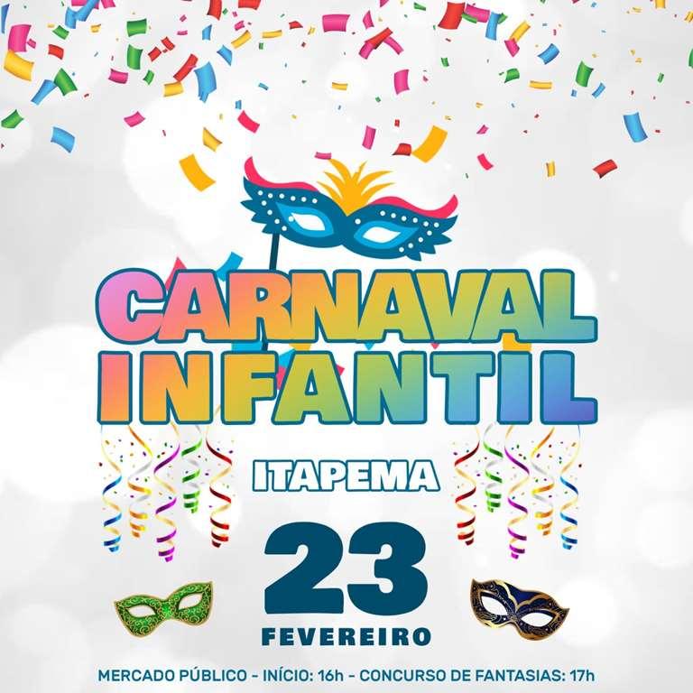 Domingo (23/02) tem Carnaval Infantil em Itapema