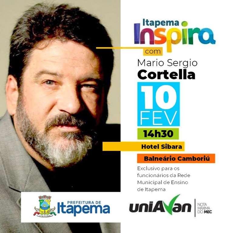 Palestra com Mario Sergio Cortella vai abrir ano letivo para professores de Itapema