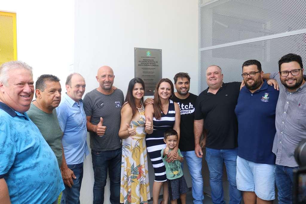 Prefeita Nilza Simas inaugura CMEI Benta Pereira Florêncio no Bairro Morretes