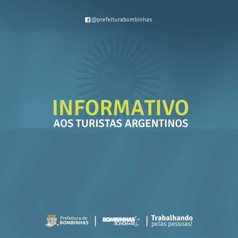 BOMBINHAS - Argentinos que precisam retornar ao país devem preencher formulário online