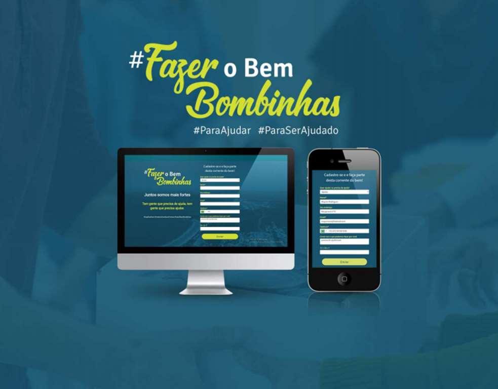 BOMBINHAS - Rede do Bem pretende ajudar quem precisa de doação