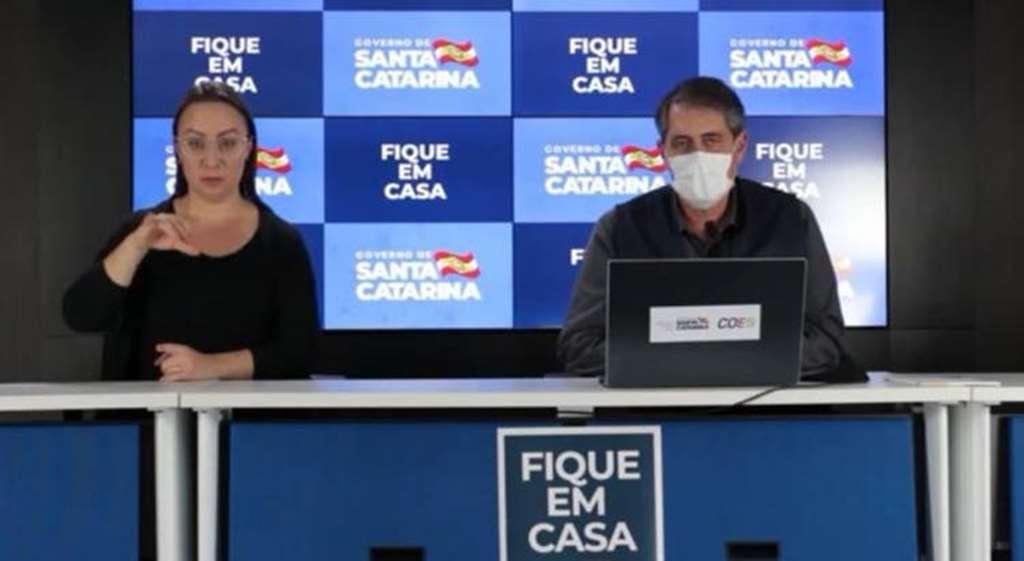 André Motta Ribeiro, secretário de Saúde de SC(Foto: Reprodução)