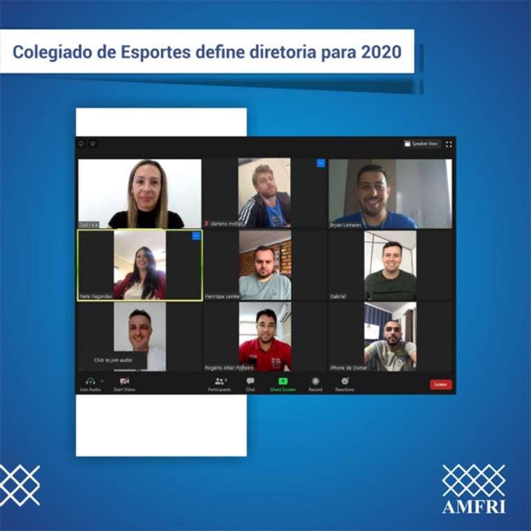 BOMBINHAS - Colegiado de Esportes da AMFRI define diretoria para 2020