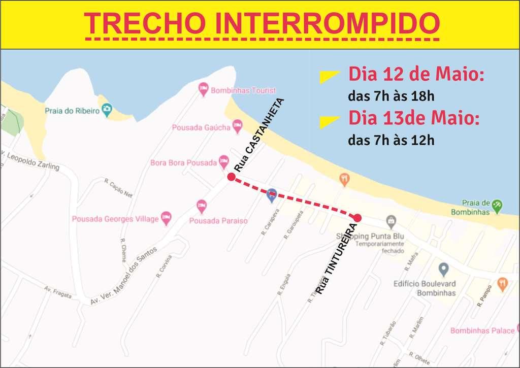 BOMBINHAS - Trânsito na Avenida do Centro será interrompido para obras