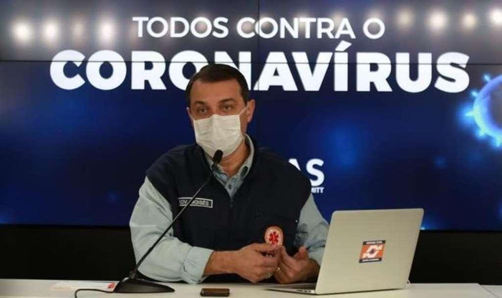 Governador Carlos Moisés da Silva atualiza números do coronavírus em SC(Foto: Julio Cavalheiro/Secom)
