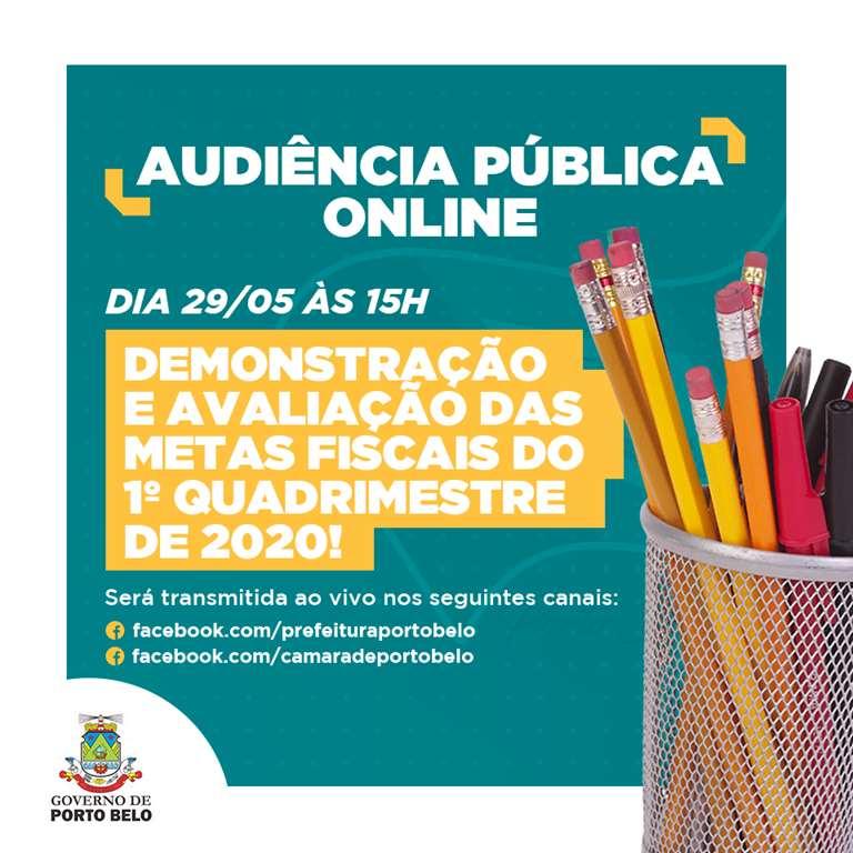 PORTO BELO - Porto Belo realiza Audiência Pública online