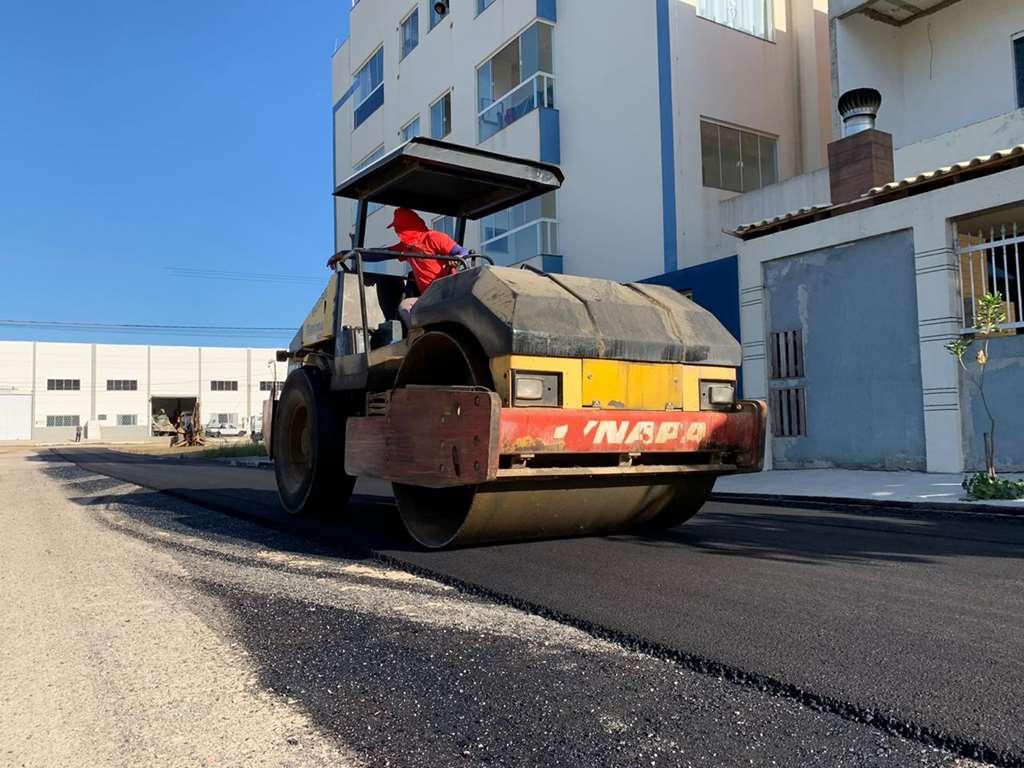 Ruas do Bairro Morretes ganham pavimentação asfáltica