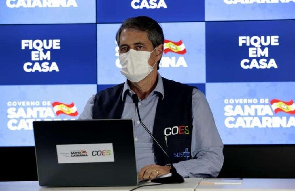 Secretário de Saúde de SC, André Motta Ribeiro(Foto: Maurício Vieira/Secom)