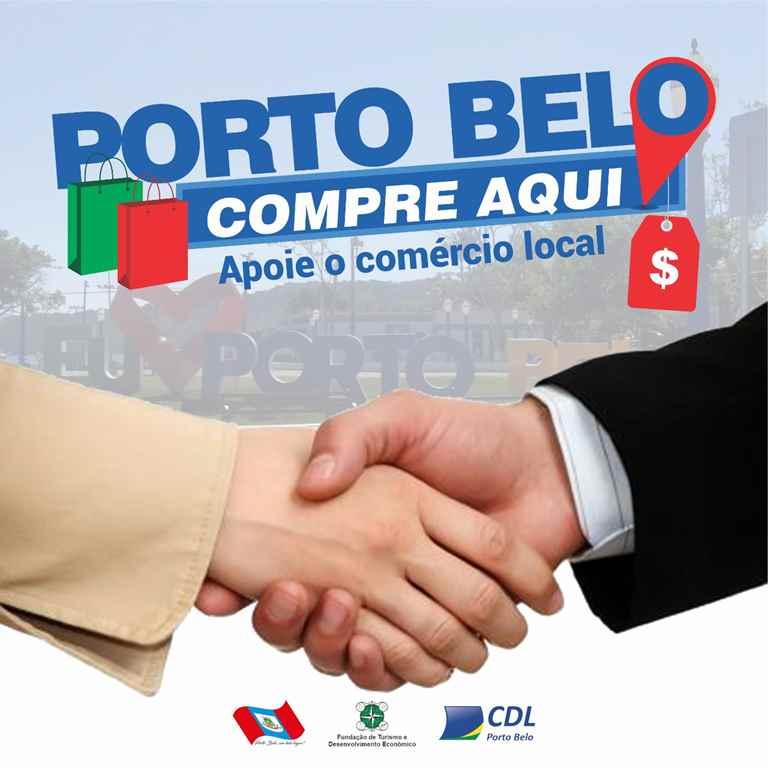 PORTO BELO - Porto Belo lança campanha para incentivar compra no comércio local