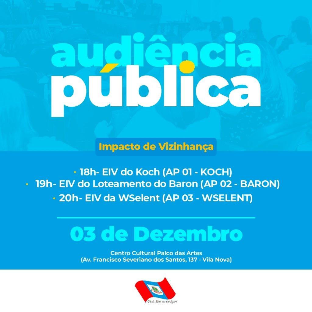 PORTO BELO – ERRATA – Audiências Públicas em Porto Belo acontecerão em novo local e horários