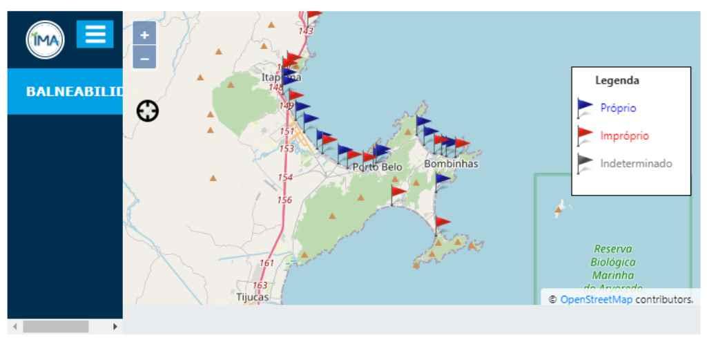 Veja o mapa de balneabilidade