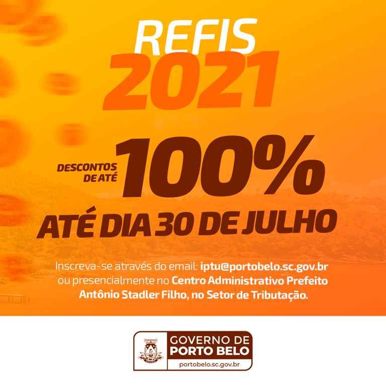 PORTO BELO - Porto Belo institui o REFIS 2021