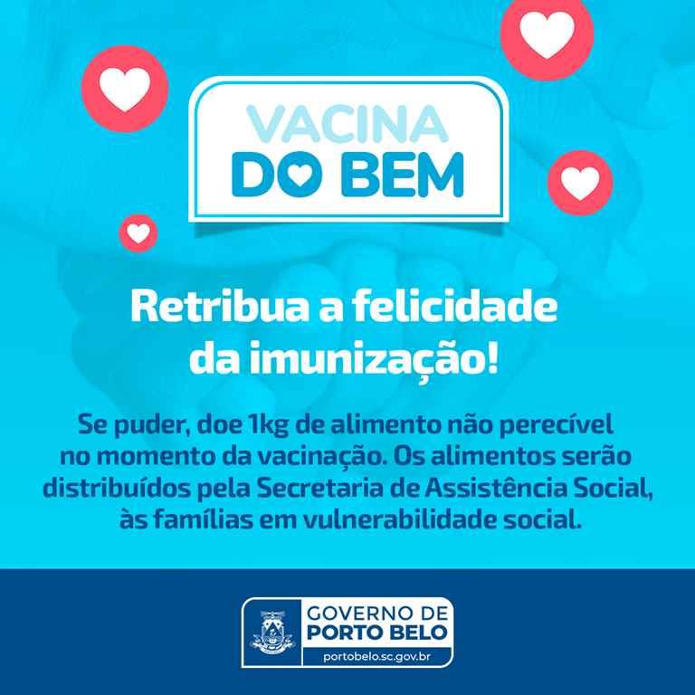 """PORTO BELO – Porto Belo lança campanha """"Vacina do Bem"""""""