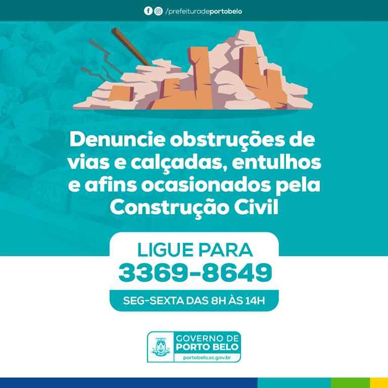 PORTO BELO - Porto Belo reforça fiscalização em relação à limpeza no entorno de obras