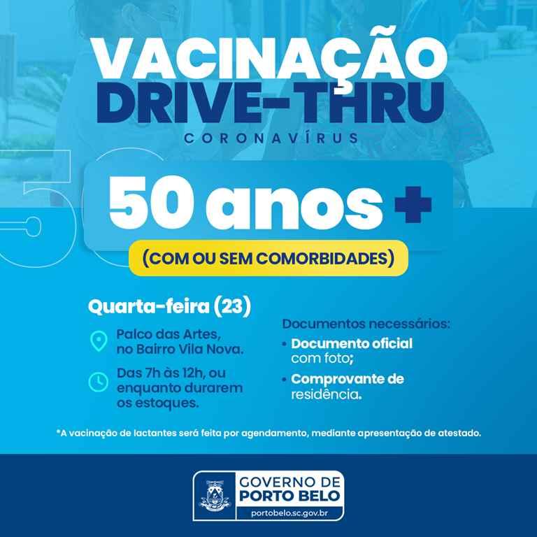 PORTO BELO - Porto Belo continua vacinação em pessoas com 50 anos ou mais
