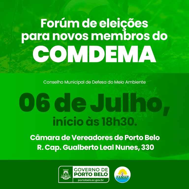 PORTO BELO - Porto Belo estabelece nova data para eleição de membros para o COMDEMA
