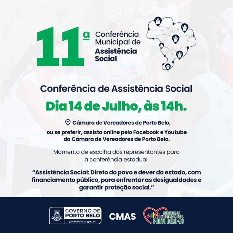 PORTO BELO - Conferência da Assistência Social de Porto Belo será no dia 14 de julho