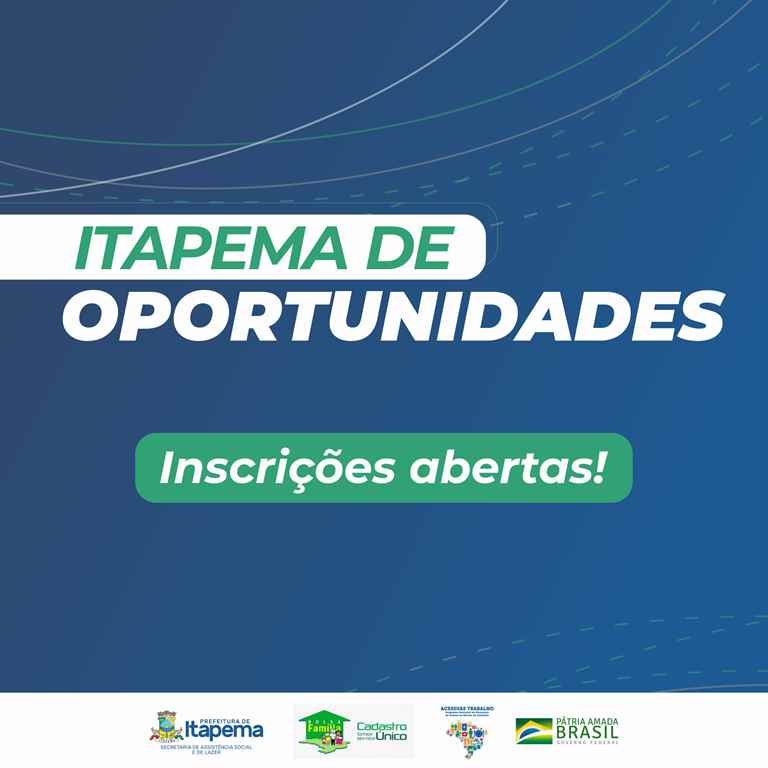 Inscrições para cursos do Itapema de Oportunidades seguem abertas