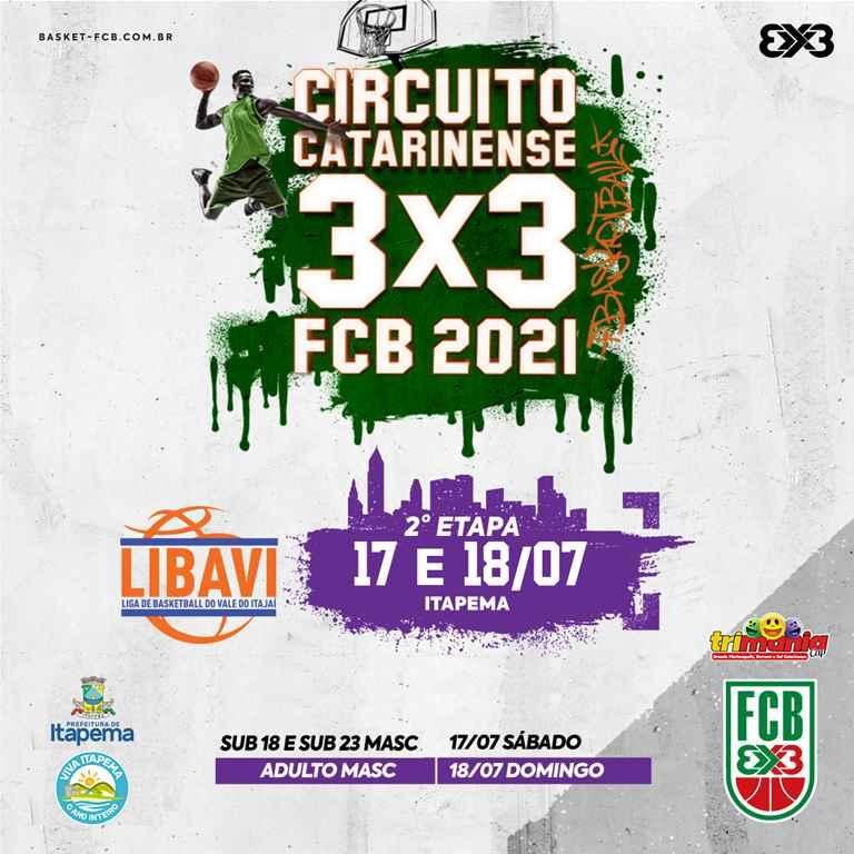 Itapema receberá Circuito Catarinense de Basquete 3X3 no final de semana