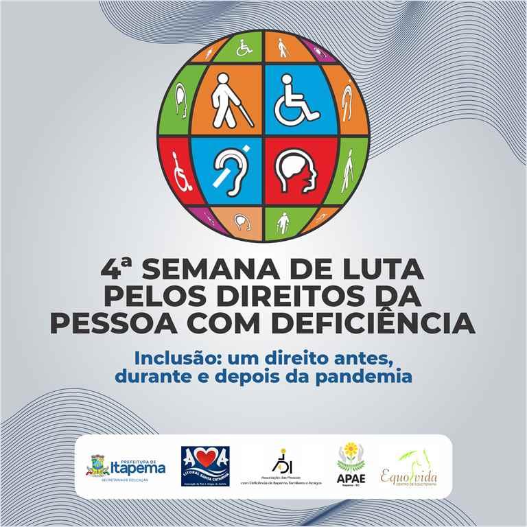 Vem aí a 4ª Semana de Luta pelos Direitos da Pessoa com Deficiência