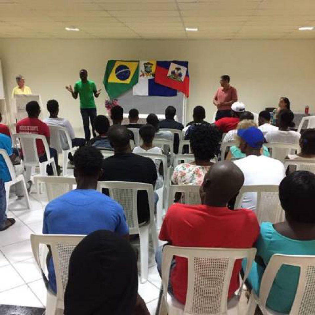 Educação inicia curso de Língua Portuguesa para Haitianos em Itapema