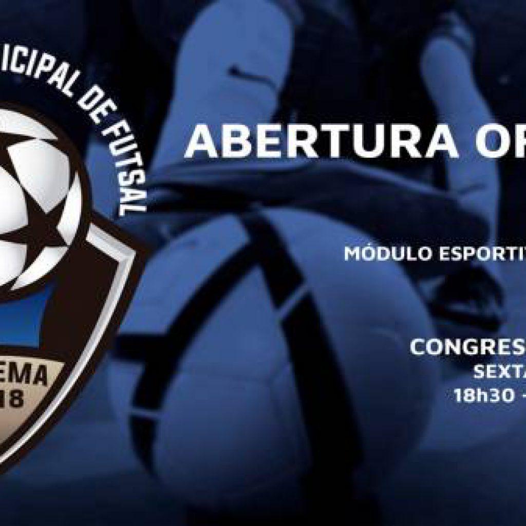 Campeonato Municipal de Futsal 2018 inicia na próxima segunda-feira (16/07)